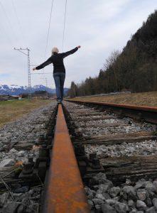 auf den Schienen des ehemaligen Wachtlexpress