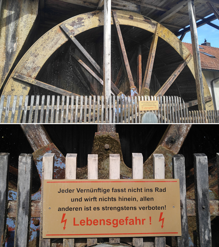 Größtes Wasserrad Bayerns