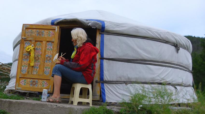Allein in der Mongolei: letztes Abenteuer am Flughafen