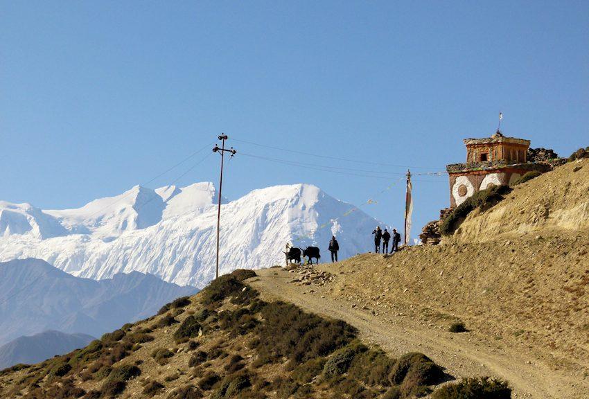 Trekking in Mustang: Manimauer im geologischen Kunstwerk