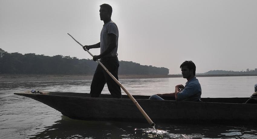Nepal: Chitwan Nationalpark - Krokodile im Rapti-River