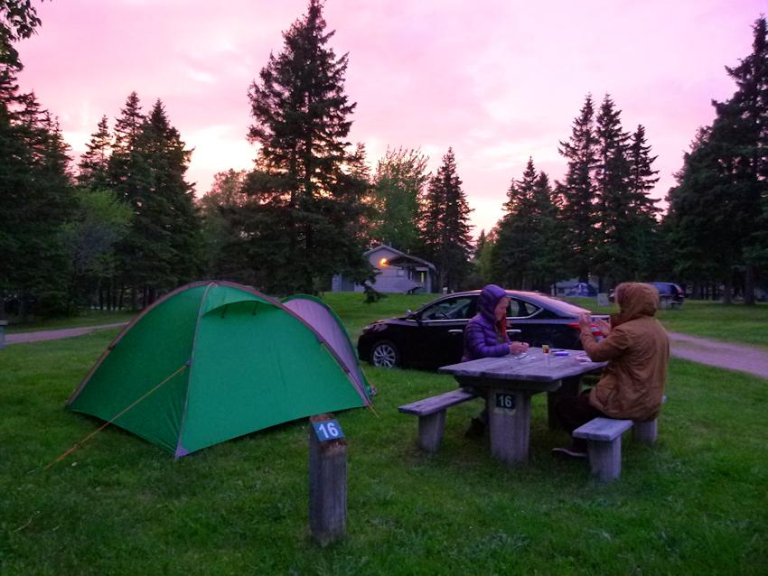 Neufundland mit dem Zelt