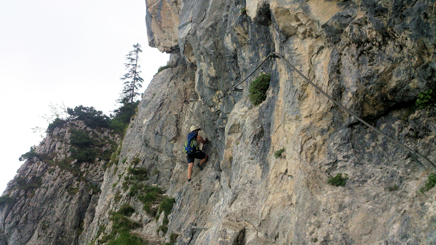 Klettersteig Tegelberg : Gelbe wand klettersteig