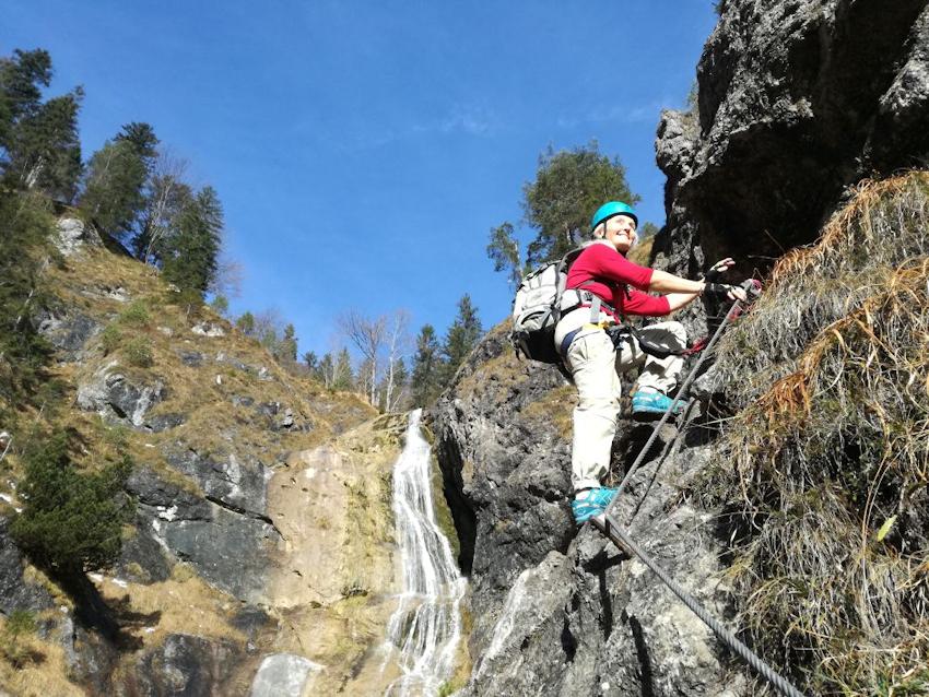 Klettersteig Reit Im Winkl : Klettersteig ohne auto hausbachfall bei reit im winkl miss tiger