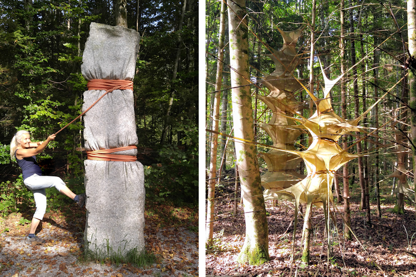 Wanderung ohne Auto: Skulpturen-Oase im wilden Mangfalltal