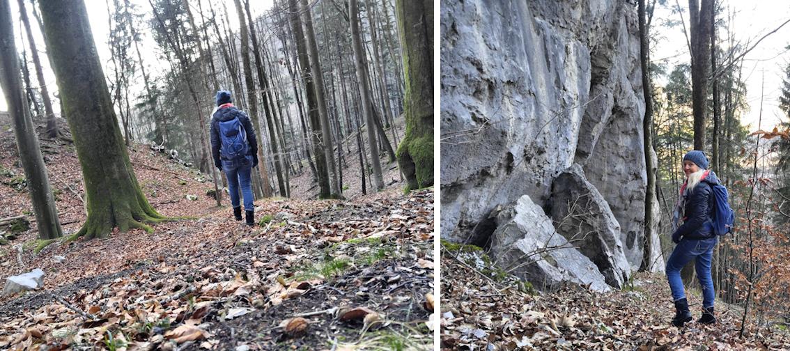 Abstieg vom Großer Madron, Ritual-Berg überm Inntal