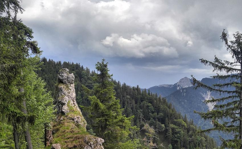 Felszacken Schliersee Wanderung zur Burgruine