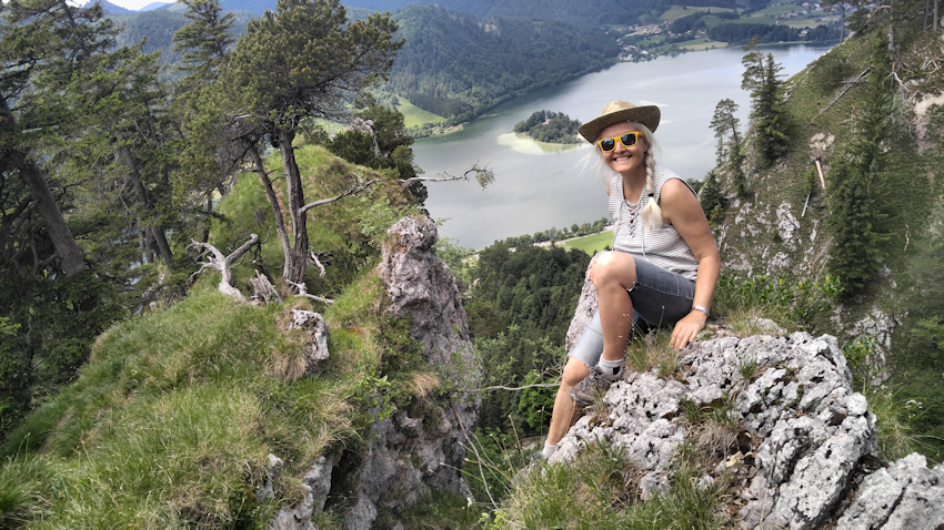 Felsabbruch über dem Schliersee Wanderung