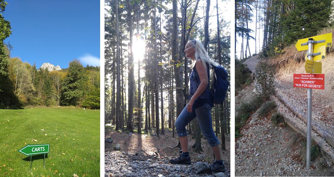 Wanderung ohne Auto: mit Kletterstellen auf den Schober überm Fuschlsee