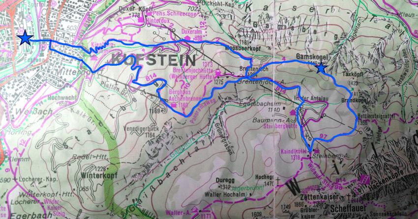 Wanderung ohne Auto: auf den Gamskogel im Wilder Kaiser-Tal