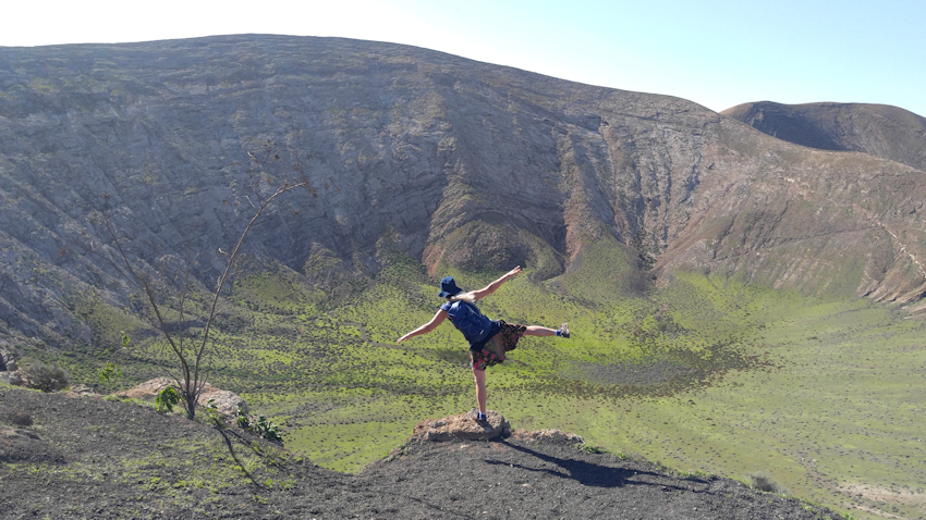 Wanderung auf Lanzarote: Tanz um den Vulkan Caldera Blanca