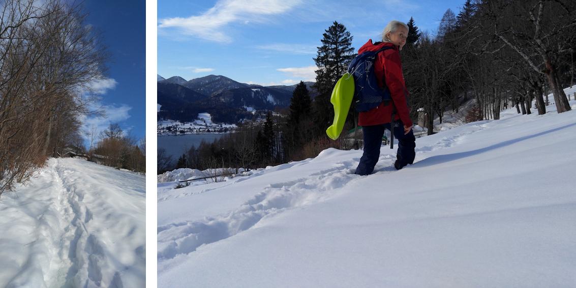 Winterwanderung mit Rodel: Abenteuer Neureuth überm Tegernsee