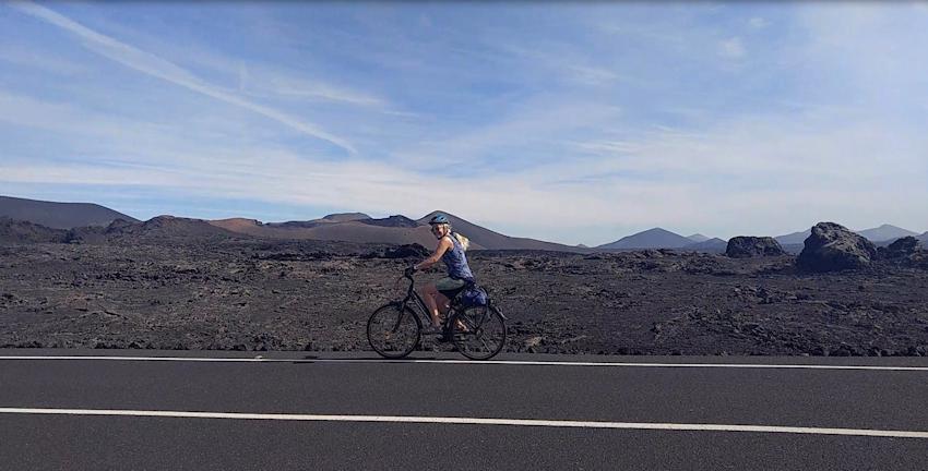Timanfaya auf Lanzarote: mit dem Fahrrad durch die Feuerberge
