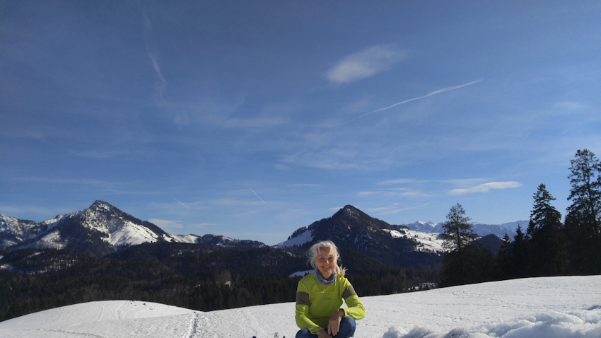 Winterwanderung mit Radel und Rodel: Daffnerwaldalm am Heuberg