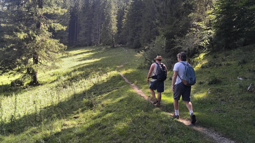 Aufstieg zum Kofel bei Oberammergau