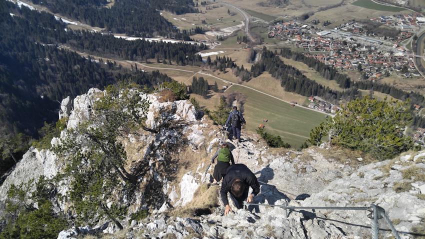 Wanderung mit leichter Kletterei: der Kofel über Oberammergau