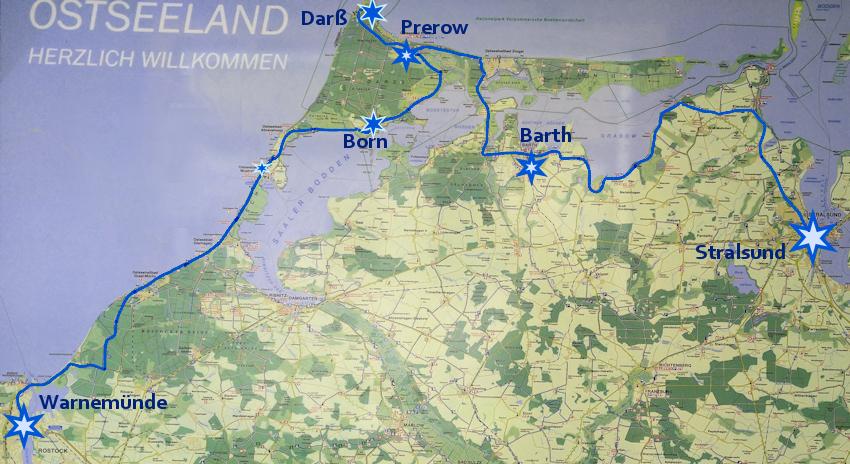 Ostseeküste Radweg: romantische Reetdach Dörfer