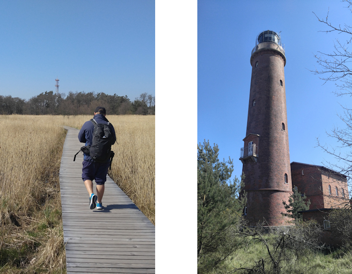 Ostseeküste Radweg: Sanddünen und Urwald am Darßer Ort Leuchtturm Natureum