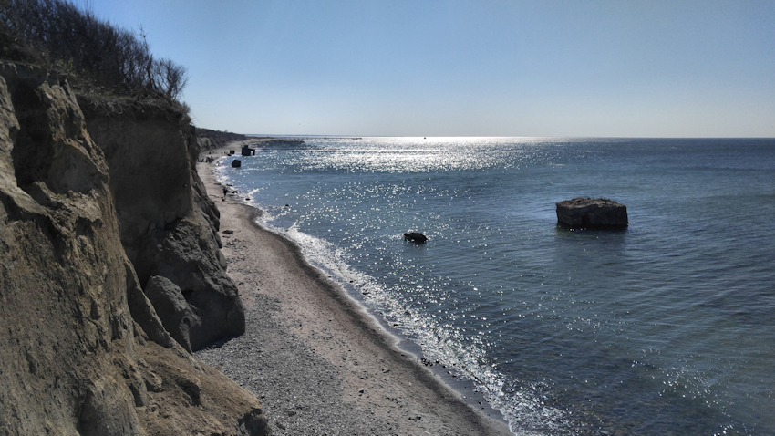 Ostseeküste Radweg: romantische Reetdach Dörfer Steilküste Ostsee