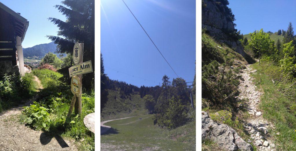 Aufstieg zum Brauneck, Benediktenwand Überquerung