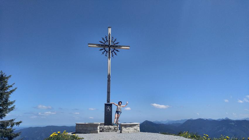 Spannende Zweitagestour: Benediktenwand von Lenggries, Gipfel des Brauneck