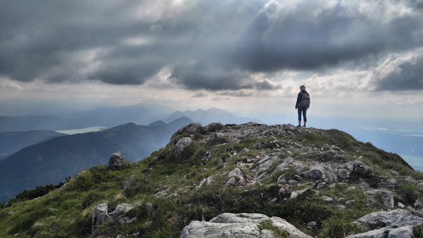 Spannende Zweitagestour: Benediktenwand von Lenggries, am Gipfel