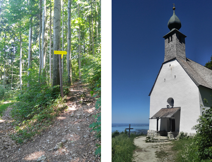 Wanderung ohne Auto: Madonna und die drei Sennerinnen, Schnappenkapelle