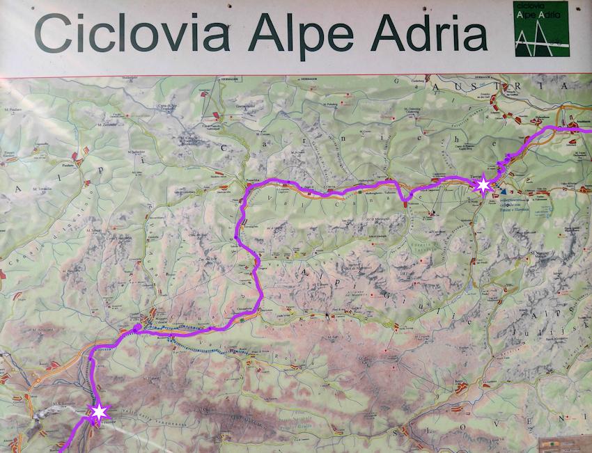 Ciclovia Alpe Adria Tarvis bis Venzone