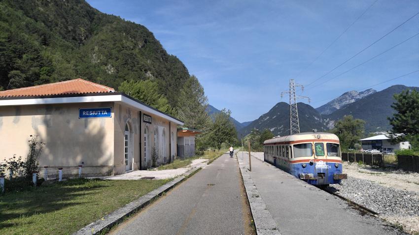 Radeln auf alter Eisenbahnstrecke, Alpe Adria