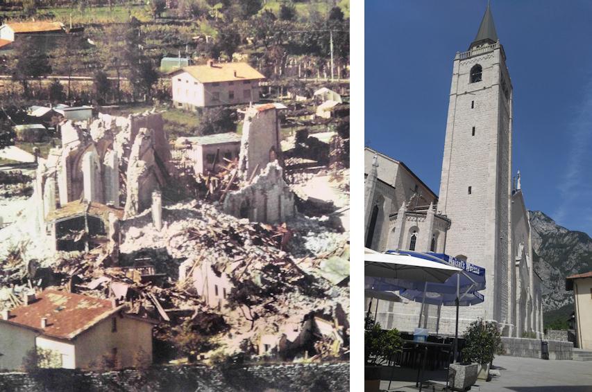 Venzone Erbeben 1976 Zerstörung