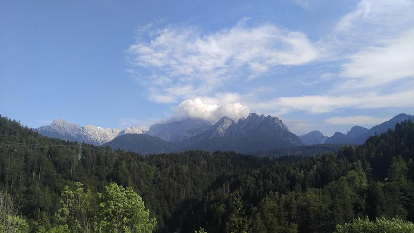 Alpe Adria Radweg nach Tarvis Julische Alpen