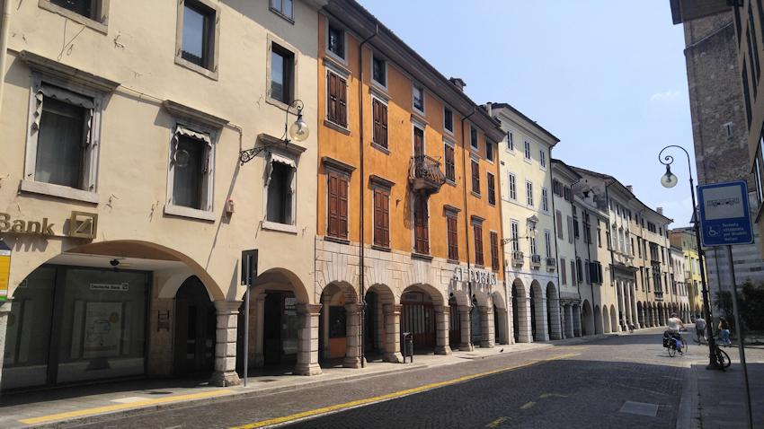 historische Altstadt Udine Via Vittorio Veneto