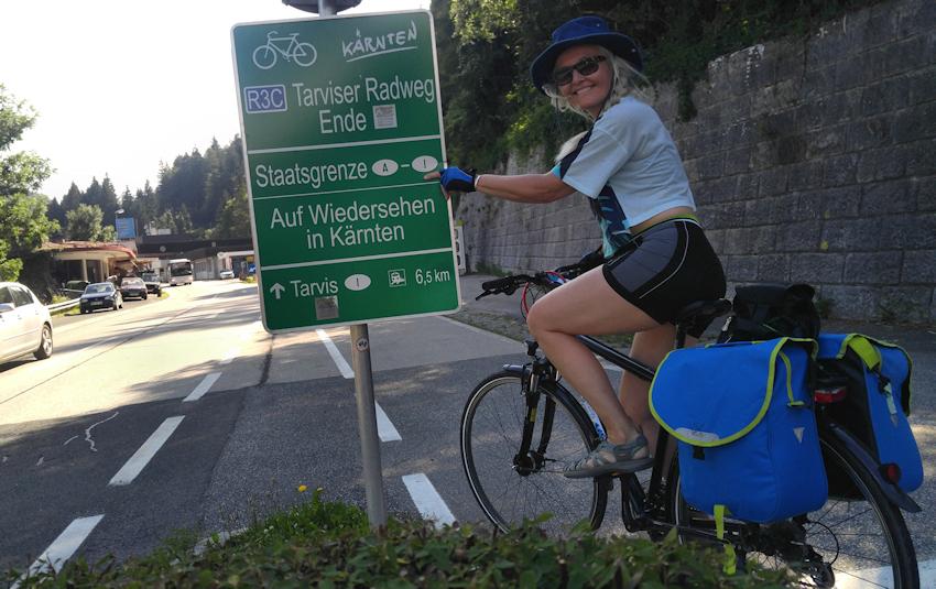 Auf dem Alpe Adria Radweg bis nach Italien