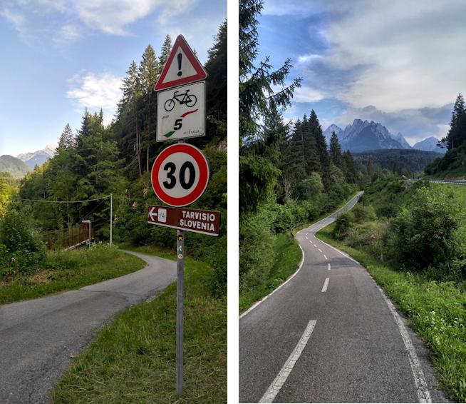 Fernradweg Ciclovia Alpe Adria Julische Alpen Tarvis