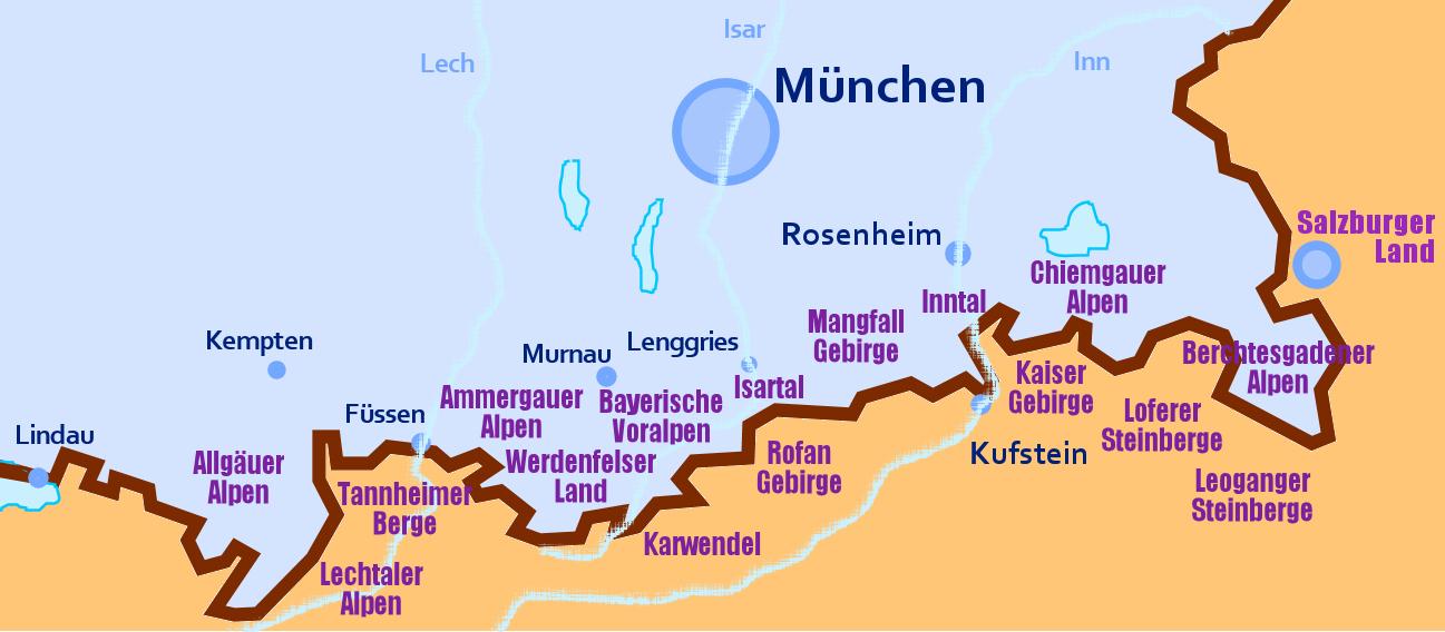 Rodeln in den Alpen nach Regionen