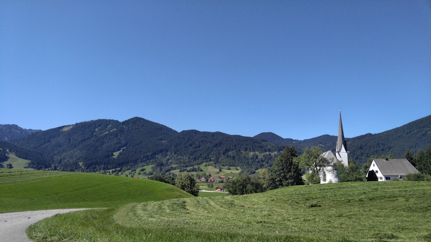 Einöde Kappel Kirche Unterammergau Start der Wanderung