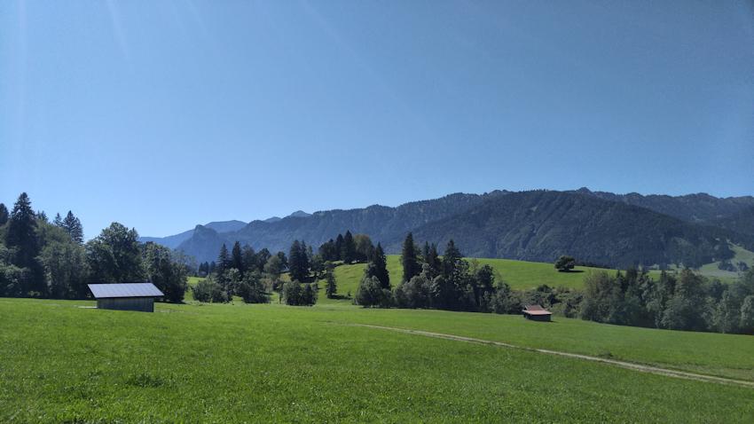Blick zum Kofel über Oberammergau