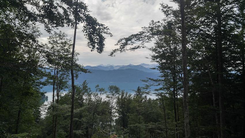 Blick auf den Walchensee vom Kesselberg Pass