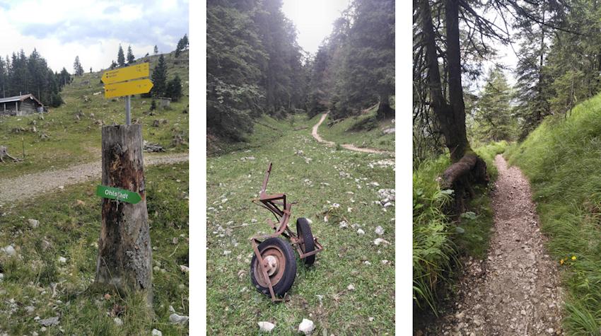 Wanderung ohne Auto: Kamm Überschreitung vom Kesselberg Pass nach Ohlstadt