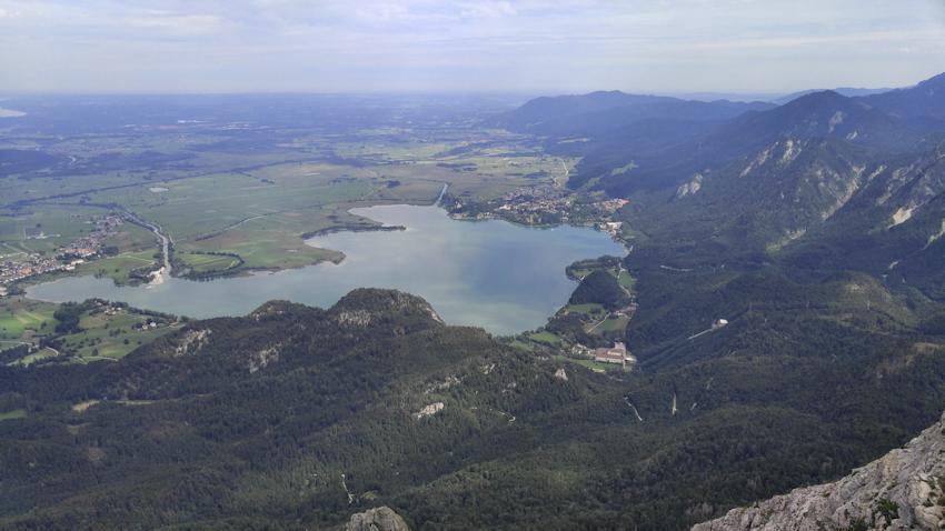 Kochelsee vom Herzogstand Gipfel