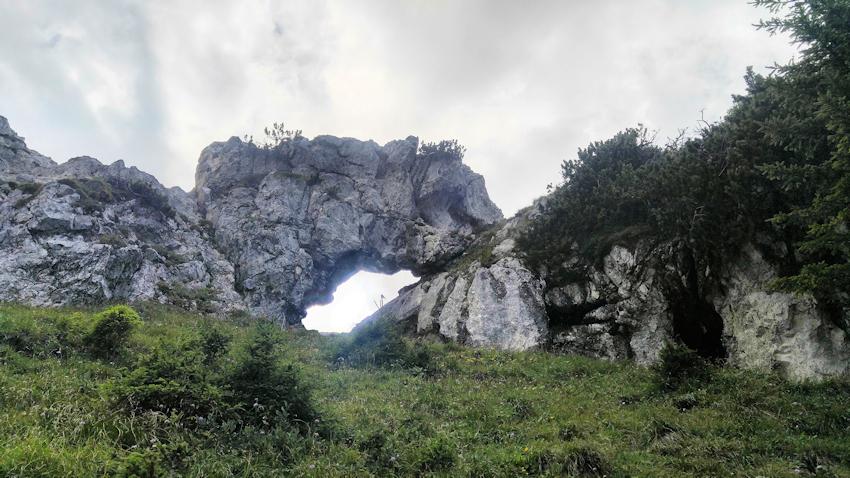 Felsentor an der Kesselwand oberhalb der Soinalm