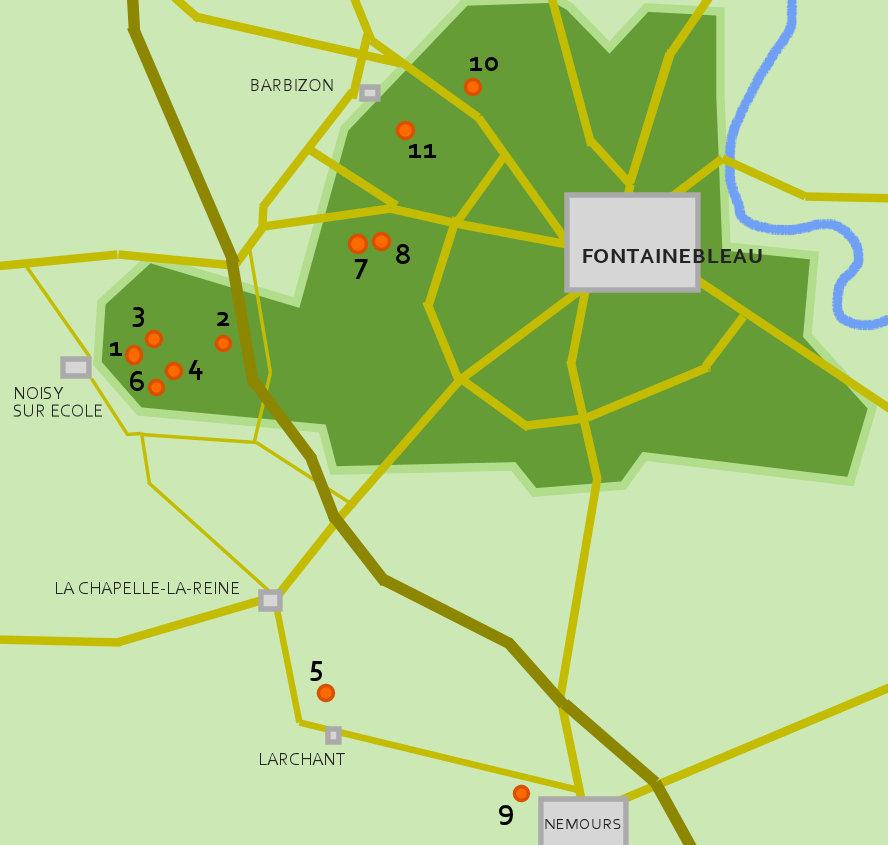 Fontainebleau: meine Boulder Lieblingsgebiete
