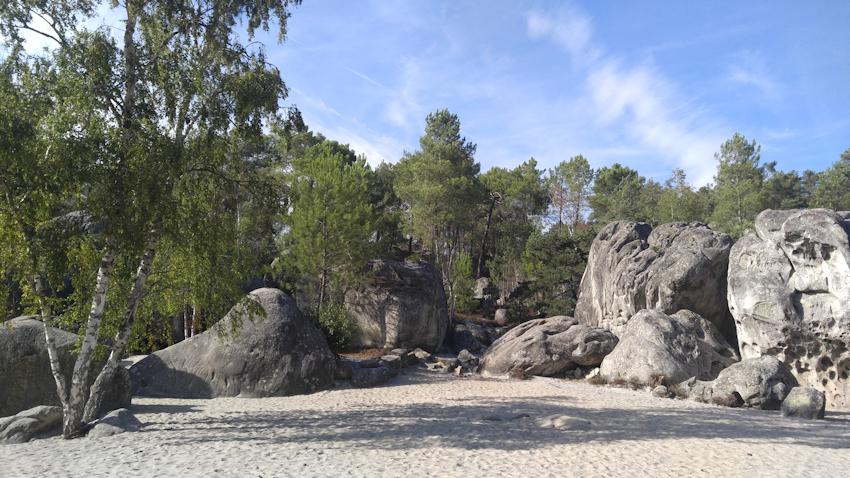 Bouldergebiet Elephant bei Larchant