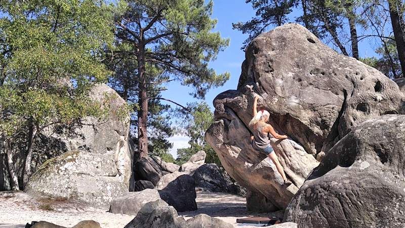 Bouldern am Elefanten bei Fontainebleau