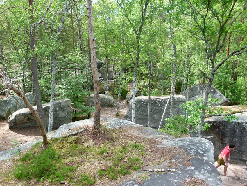 Bouldergebiete in Fontainebleau