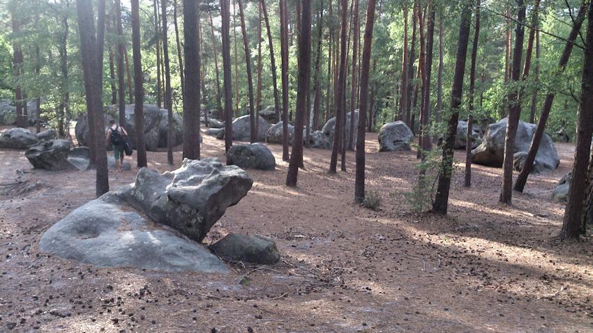 Roche aux Sabots leichte Boulder