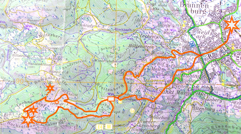 Wanderung ohne Auto: einsame spannende Wege zu Hochsalwand und Lechnerkopf von Brannenburg