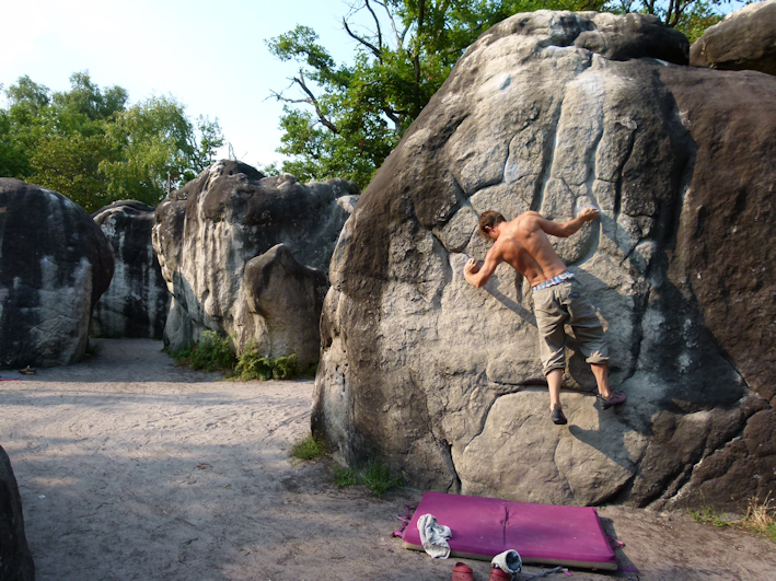 Fontainebleau Bouldern in Bas Cuvier