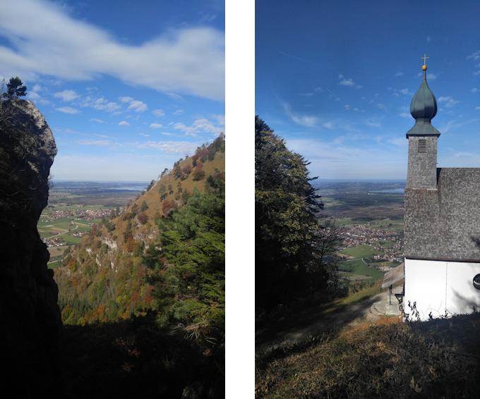 Blick von der Kindlwand und von der Schnappenkirche