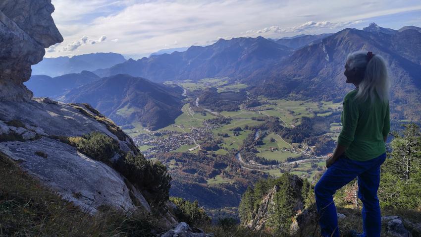 Vor der Gipfelwand des Hochlerch